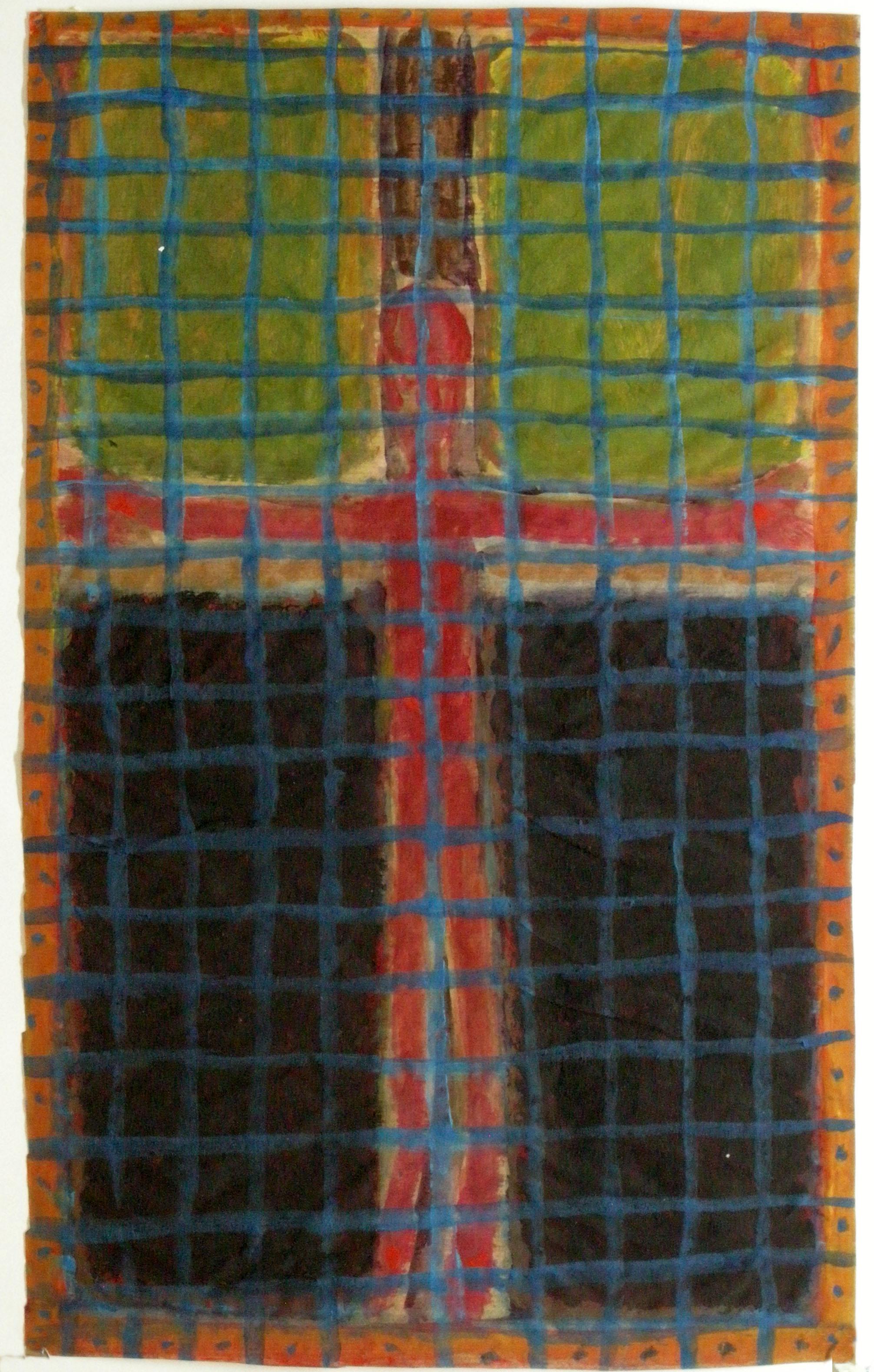 Kreuzigung hinter Gitter